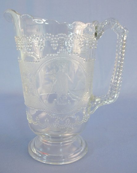 4: Early American Pattern Glass Minerva Water Pitcher