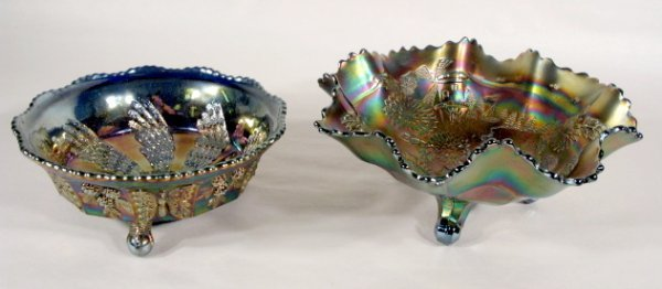 13: 2 Fenton Cobalt Carnival Glass Bowls