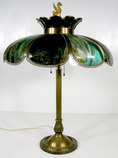 15: Signed Bradley & Hubbard Table Lamp