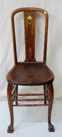 15A: R.J. Horner, NY Mahogany Inlaid M.O.P. Chair