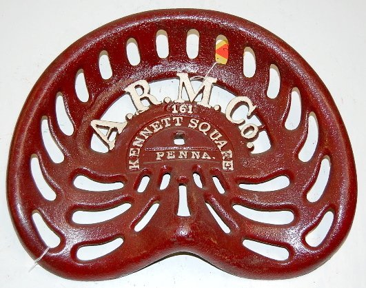 55A: Cast Iron A.R.M. Co. Implement Seat