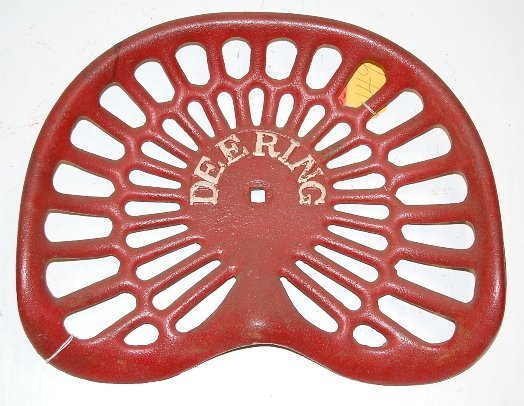 65A: Cast Iron Deering Implement Seat