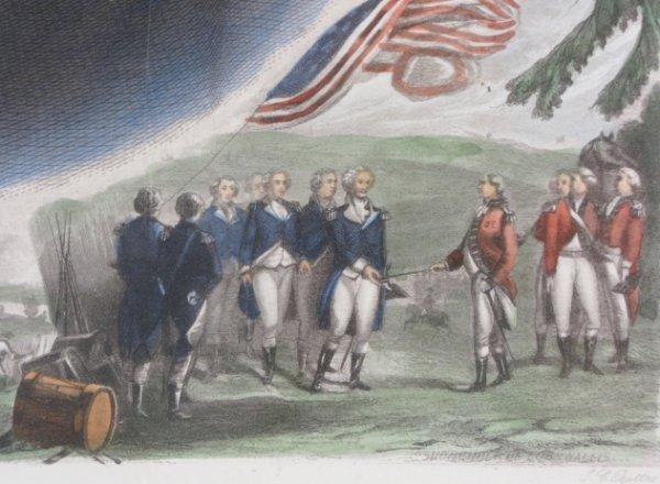 88A: J. C. Buttre Framed Mr. & Mrs. George Washington - 10