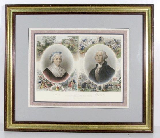 88A: J. C. Buttre Framed Mr. & Mrs. George Washington