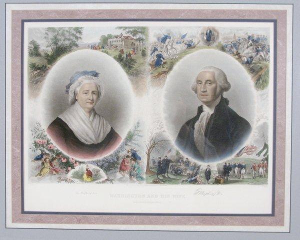 88A: J. C. Buttre Framed Mr. & Mrs. George Washington - 2