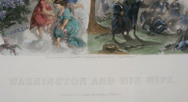 88A: J. C. Buttre Framed Mr. & Mrs. George Washington - 3