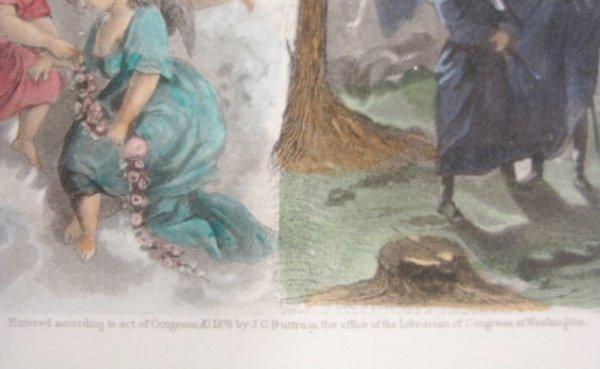 88A: J. C. Buttre Framed Mr. & Mrs. George Washington - 4