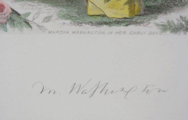 88A: J. C. Buttre Framed Mr. & Mrs. George Washington - 8