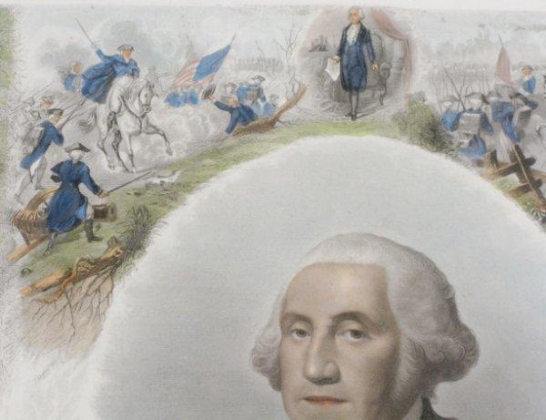 88A: J. C. Buttre Framed Mr. & Mrs. George Washington - 9