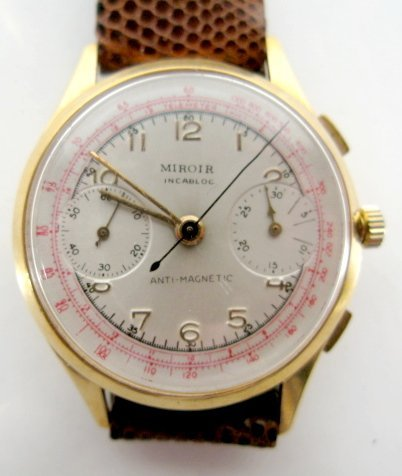 2: Miboir Incabloc Chronograph Wrist Watch