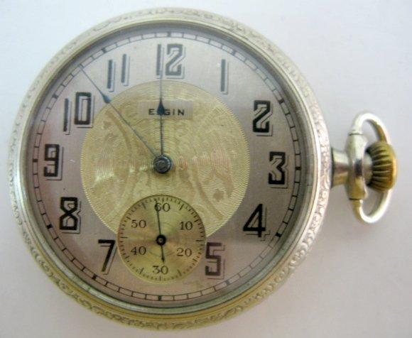 4: Elgin 17J 16S OF SW/SS DMK Pocket Watch