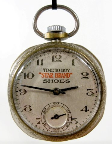 9: New Haven Star Brand Shoes Pocket Watch