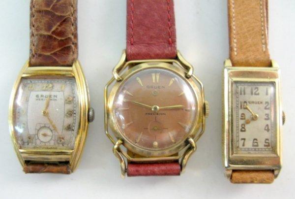 11: 3 Gruen Wrist Watches Veri-Thin, Precision, Other