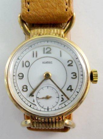 14: Agassiz 14K 17J Wrist Watch
