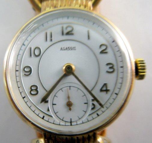 14: Agassiz 14K 17J Wrist Watch - 2