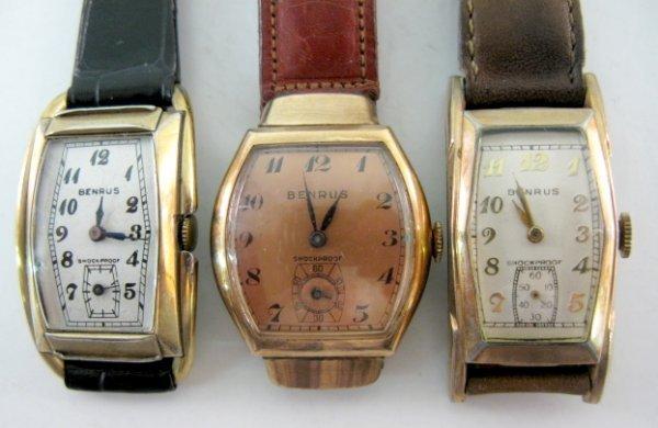 15: 3 Benrus Wrist Watches, Shockproof