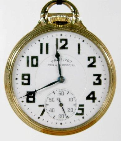 16: Hamilton 992B 21J 16S OF LS Pocket Watch