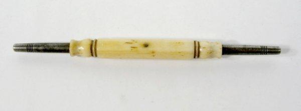 17: Early Bone Ivory & Steel Watch Key
