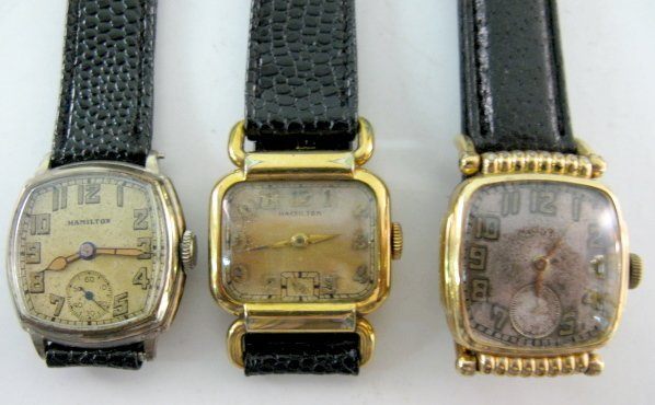 18: 3 Hamilton 17J Wrist Watches