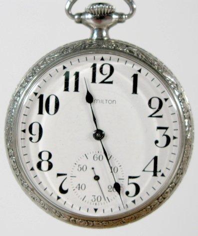 20: Hamilton 978 17J 16S OF LS DMK Pocket Watch