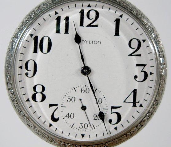 20: Hamilton 978 17J 16S OF LS DMK Pocket Watch - 2