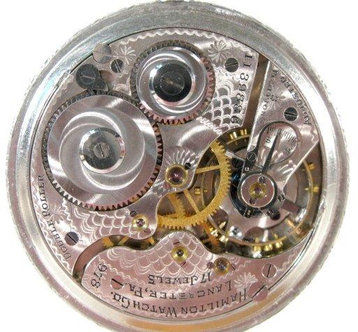 20: Hamilton 978 17J 16S OF LS DMK Pocket Watch - 4