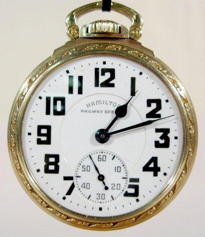 21: Hamilton 992B 21J 16S OF LS Model 11 Pocket Watch