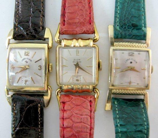 22: 2 Lord Elgin & 1 Elgin De Luxe Wrist Watch