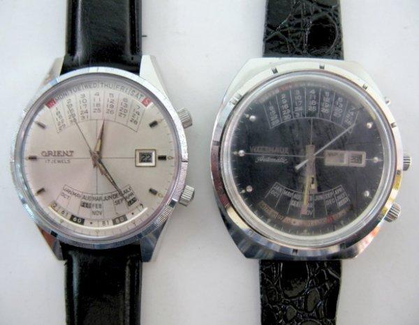 110: Orient & Wittnauer Multi Year Calendar W. Watches