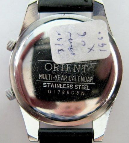 110: Orient & Wittnauer Multi Year Calendar W. Watches - 3