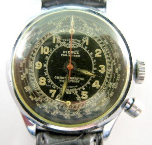 134: Pierce Chronograph Black Dial Wrist Watch