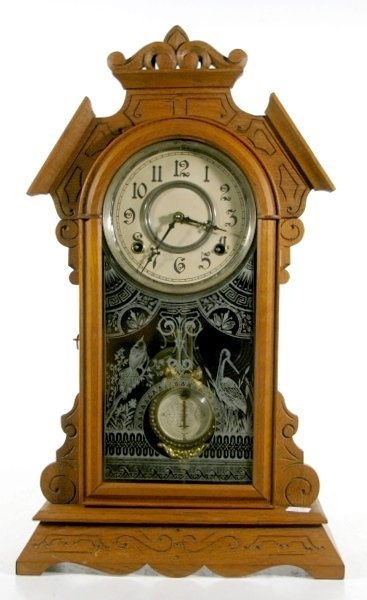 3: Kroeber Oak Kitchen Clock