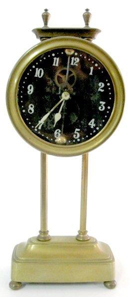 4A: British Made Brass Gravity Clock