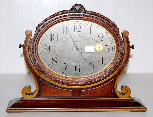 6: Waltham Wood Framed Dresser Clock