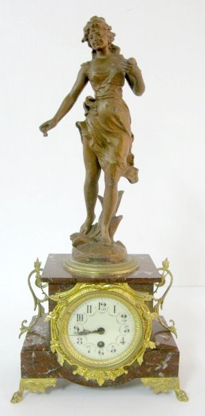 9: Jules Rolez Limited French Statue Clock