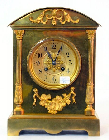 17: French Gilt Bronze Dome Top Clock