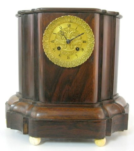 18: Early Rosewood Silk String Mantle Clock
