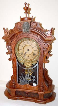 19: Ansonia Monarch Walnut Mantle Clock
