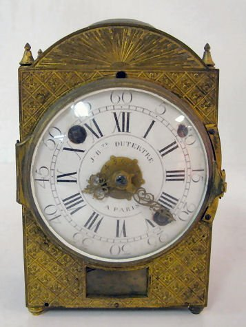 76: Early French Lantern Style Clock by J.B. Dutertre