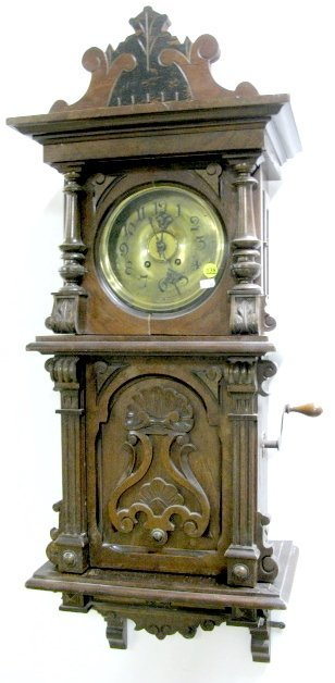138: Signed Lenzkirch Symphonian Music Box Clock