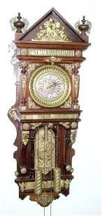 """140: Ansonia """"Antique"""" Hanging Clock"""