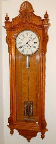 140A: Oak Seth Thomas #19 Wall Regulator