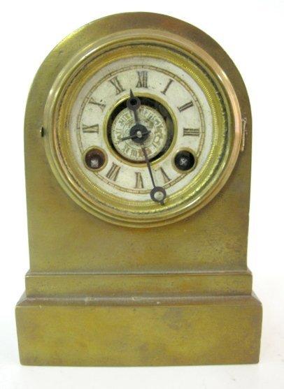 13A: Brass Terry Clock Company Alarm Clock