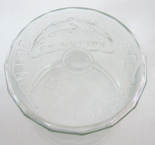 "6: Clear Glass ""La Palina Cigar"" Counter Jar - 2"
