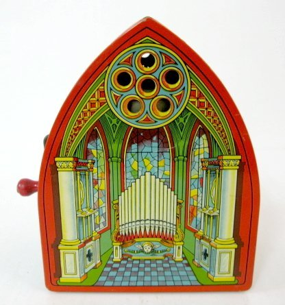 7: J. Chein Tin Litho Church Music Box