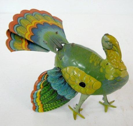 11: Colorful Keywind Tin Litho Turkey