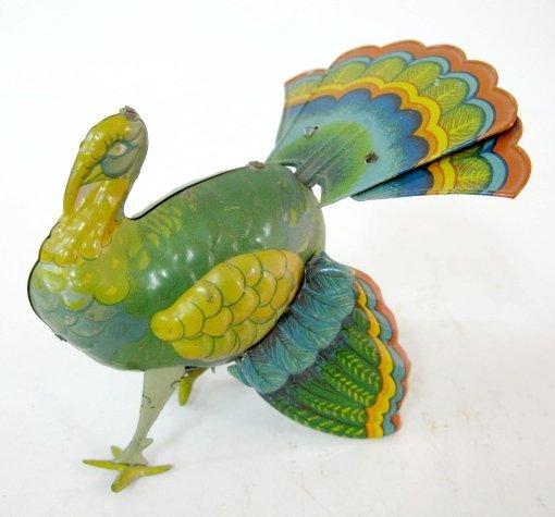 11: Colorful Keywind Tin Litho Turkey - 2