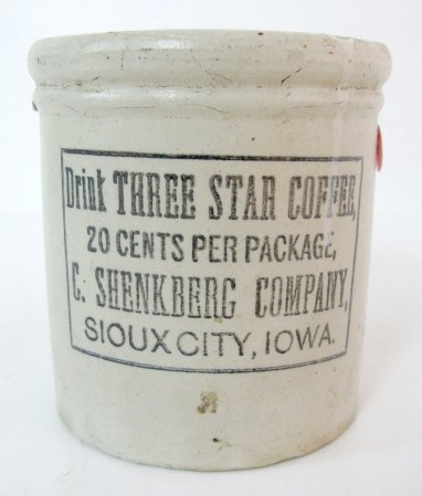 22: Three Star Coffee Advertising Crock