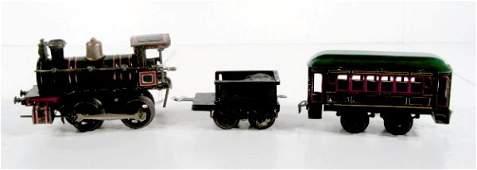 77A: German Tin Litho 3pc. Wind Train Set