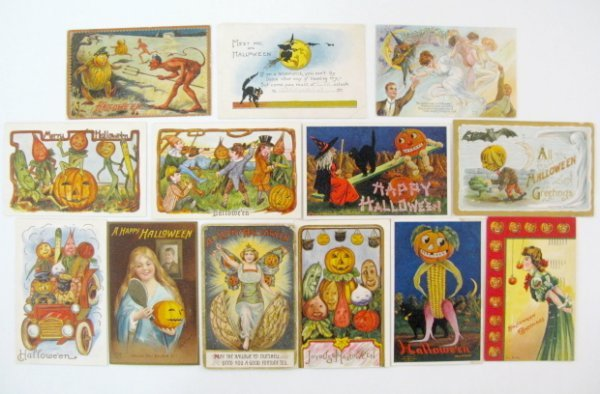 382: 13 Vintage Halloween Postcards